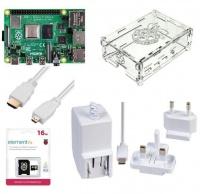 Raspberry Pi 4 B Basic Kit 2Gb Ram 16GB Noobs Case PSU White Photo