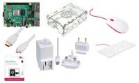 Raspberry Pi 4 B Starter Kit 2Gb Ram 16GB Noobs Case PSU White Photo