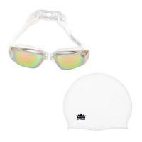 Goggles & Cap Reflective White Photo