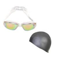 Goggles & Cap Reflective White/Grey Photo