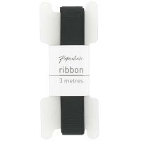 Black Grosgrain Ribbon - 3 metres Photo