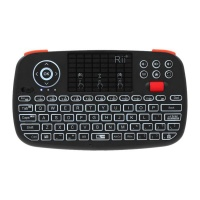 Rii Wireless Qwerty Backlit Gamepad Touchpad|Keyboard|Scroll Wheel Black Photo