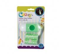 Bulk Pack x 2 Cooey Diaper Disposal Bags & Dispenser 30 piecess Per Pack Photo