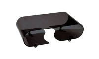 Oval Ended Trendy Dark Glass Coffee Table Photo