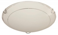 LED Ceiling Fitting with Circular Pattern Frosted Glass Photo