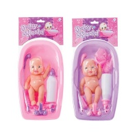 Bulk Pack x 2 Baby Doll With Bath Tub & Accessories Photo