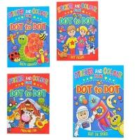 Bulk Pack x 4 Stickers & Colouring Fun Dot To Dot Photo