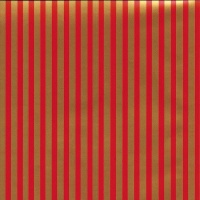 Gift Wrapping Paper 5m Roll - Thin Red & Gold Stripe Photo