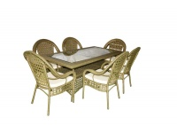 JOST Outdoor Square Table With 6 Chairs Photo