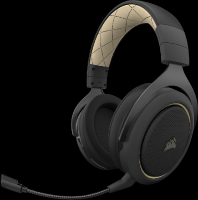 Corsair HS70 Pro Wireless 7.1 Surround Headset SE - BlacK Gold Highlight Photo