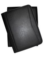 Mossilo Professional A4 PU Leather Business Portfolio - Black Photo
