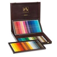 Caran d'Ache Pablo Coloured Pencil Set of 120 Wooden Case Photo