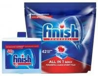 Finish Auto Dishwashing Tablets 42's Machine Cleaner 250ml Photo