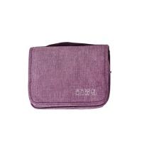Olive Tree - Hanging Travel Toiletry Bag / Cosmetic organizer - Purple Photo