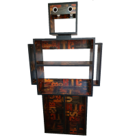 Creative Bookshelf Robot Photo