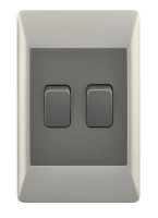 2 Lever 1 Way Light Switch for 2 X 4 Electrical Box Photo