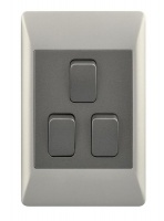 3 Lever 2 Way Light Switch for 2 X 4 Electrical Box Photo