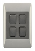 4 Lever 1 Way Light Switch for 2 X 4 Electrical Box Photo