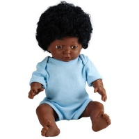 Les Dolls: Anatomically Correct African Baby Boy Doll with Hair Photo