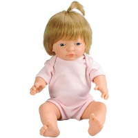 Les Dolls: Anatomically Correct Caucasian Baby Girl Doll with Hair Photo