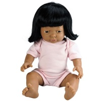Les Dolls: Anatomically Correct Indian Baby Girl Doll with Hair Photo