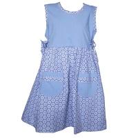 Shweshwe Summer Dress Blue Diamonds Photo