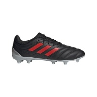 adidas Men's Copa 19.3 Firm Ground Soccer Boots - Black/Red Photo