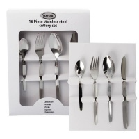 Bulk Pack X 2 Stainless Steel Cutlery Set - 16 Piece 4 Place Setting Photo