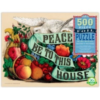 eBoo Rectangular Foil Family Puzzle - Peace Be To This House Photo