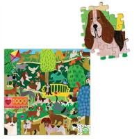 eeBoo Family Puzzle - Dogs in the Park Photo