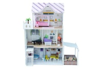 DOLL CENTRAL Manor Dollhouse With Lift Including 18 Piece Furniture Photo