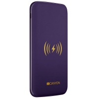 Canyon Li-Polymer Black Power Bank 8000mAh Wireless Charger - USB Type C Photo