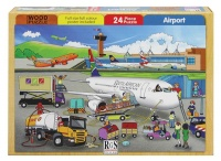 RGS Group Airport Wooden Puzzle - 24 Piece Photo