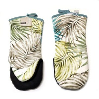 PH Home - Cotton Fern Leaf Puppet Oven Glove With Black Grip Photo