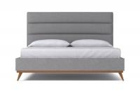StrohBerry - Boston Linen Upholstered Panel Headboard -Mist Photo