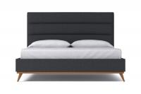 StrohBerry - Boston Linen Upholstered Panel Headboard -Storm Grey Photo