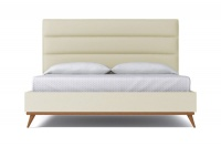 StrohBerry - Boston Linen Upholstered Panel Headboard -Beige Photo