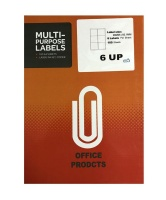 6 UP labels self adhesive A4 Size - 100 sheets Photo