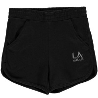 LA Gear Girls Interlock Shorts - Black [Parallel Import] Photo