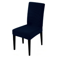 Elasticated Textured Dining Room Chair Cover Photo
