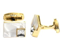 Androgyny Copper-based GP Rectangle Shell Cufflink VC6539 Photo