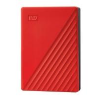 WD MY Passport 4TB Portable Hard Drive - Red Photo