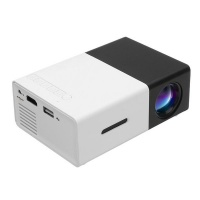 Portable YG300 Mini LED Projector - Black Photo