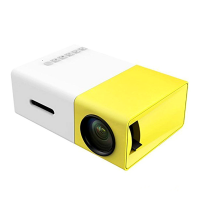 Portable YG300 Mini LED Projector - Yellow Photo