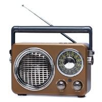 Retro FM Radio MD-1173BT Wireless Speaker Brown Photo