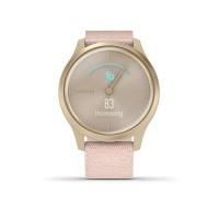 Garmin Vivomove Style Smart Watch Blush Pink Nylon with Light Gold Hardware Photo