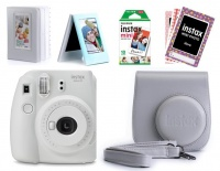 Fujifilm Instax Mini 9 Value Bundle - Smokey White Photo