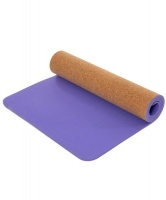 GetUp 6mm Cork Yoga Mat - Purple Photo
