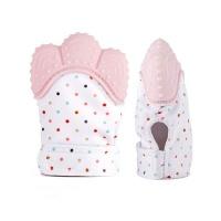 Baby Teething Mitten Glove- Pink Photo