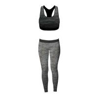 FM London Womens 2 pieces Stretch-Fit Yoga Gym Wear Set - Vest Photo